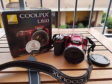 Fotocamera Nikon COOLPIX L810 Rossa 16MPX ZOOM 26X
