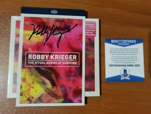 Sold Out Robby Krieger Signed The Ritual Begins at Sundown Card- BAS Cert X02221
