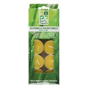 Citronella Scented Tealights Candles 10 pack - Repels unwanted flying insects
