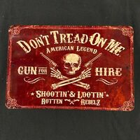 don't tread on me vintage aluminium sign high quality america man cave sign