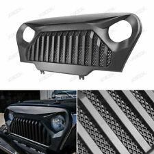 For 1997-2006 Jeep Wrangler TJ Front Matte Black Gladiator Grill Grille w/Mesh