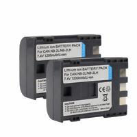 2X NB-2LH NB-2L 1200mAh Battery For Canon EOS 400D 350D Rebel XT PowerShot G7 G9