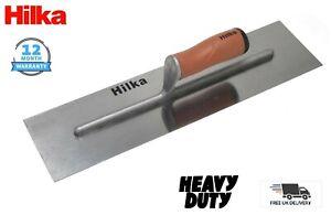 """HILKA Carbon Steel Soft Grip Plastering/Finishing Trowel 18"""" (450mm) HEAVY DUTY"""