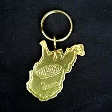 Dupont Belle Plant WV Keychain Key Chain Ring Fob Holder Gold Tone RARE