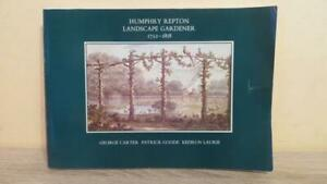 """1983 """"HUMPHRY REPTON -LANDSCAPE GARDENER 1752-1818"""" by CARTER - ILLUS"""