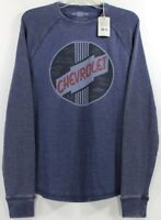 Lucky Brand Chevrolet Circle Logo Thermal T-Shirt/Sweater Tee Chevy Car Culture