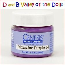 Genesis Paint Dioxazine Purple 04 1 fl oz For Reborn ~ Reborn Doll Supplies