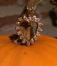 14 K Gold And Diamond Heart Pendant