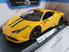 MAISTO 1:18 Scale - Ferrari 458 Speciale - Yellow - Diecast Model Car