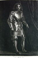 ORIGINAL ETCHING PRINT by Rajon - Knight in Armor