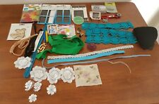 BULK LOT Assorted VINTAGE & New Sew Craft NEEDLES BUTTONS LACE HOOKS & More