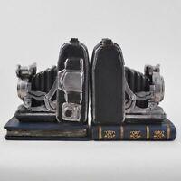 Retro Film Camera Shelf Tidy Book Ends Heavy Vintage Effect Ornament Decoration