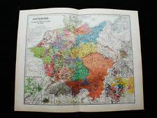 1880 SPRUNER - rare map: EMPIRE of GERMANY, DEUTSCHLAND, LEIPZIG, DUSSELDORF...