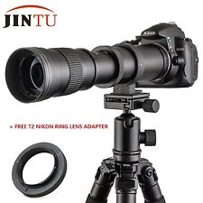 Jintu 420-800mm f/8.3-16 Telephoto Photo Zoom Lens for Nikon Digital Slr Camera