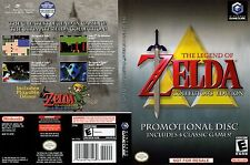 Zelda Collector's Editions Replacement Game Cube Box Art Case Insert Cover Scan