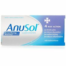 Anusol Soothing Relief Suppositories 4 Way Action 12