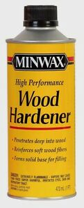 MINWAX WOOD HARDENER High Performance Strengthens Seals Rotting Wood 1 pt 41700