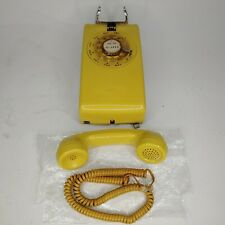 Vintage Yellow Bell Systems Western Electric 554 BMP Rotary Wall Phone Telephone