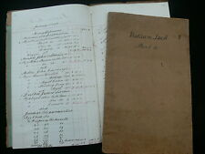 Edinburgh 1886 Manuscript Account Books of William Tuck - Haberdashery, Food