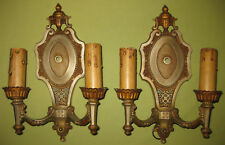 Antique 1920's Set of 2 Wall Sconce Electric Candleabras-- Hard To Find