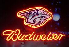 "New Nashville Predators Logo Neon Light Sign 14""x10"" Lamp Display Beer Glass Bar"
