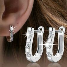 Plated Very Small Stud Hoop Earrings Women Fashion Jewelry 925 Sterling Silver