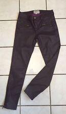 Current/Elliott Burgundy Coated The Soho Zip Stiletto Skinny Jeans 24/0