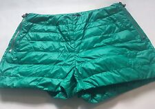 MENS sexy Padded Puffer   Shorts Shiny Wet Look 32 W Nylon Cal Surf Sprint