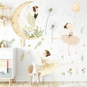 Wall Sticker Eco Friend Dancing Girl Removable PVC Bedroom Decal Home Decorative