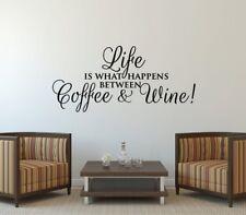 Wall Stickers custom colour Coffee & Wine what happen vinyl decal decor Nursery