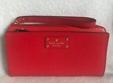 KATE SPADE Layton Wellesley Leather Wallet Phone Wristlet Cherryliqr 648 NWT