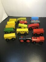 Magnetic Wooden Train Set 15 Pieces Thomas  Engine Compatibly Brio