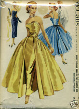 Vintage 50's McCALL'S 3439 EVENING WEDDING COCKTAIL DRESS GOWN Sewing Pattern