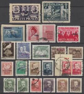 POLEN Polska 1946/50 Pr. Regierung, Danzig+ Währungsreform Groszy ex Mi 439-665