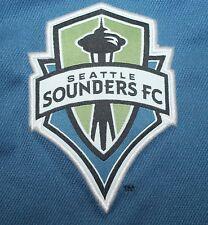 Seattle Sounders MLS Adidas Climalite Men's Blue Polo Shirt Size Medium Polyeste