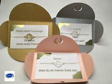 Trauzeugin Geschenk Armband Hochzeit Rosegold silber Schwester Brautschmuck Baum