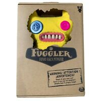 "Fuggler Monsters Yellow Button Eyes Soft Toy 9"" 4+"