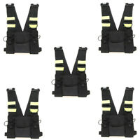 5X Chest Front Pack Pouch Holster Carry Bag BaoFeng UV-5R Kenwood Walkie Talkies