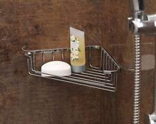 CHROME PLATED SHOWER BATH CORNER SOAP TRAY HOLDER