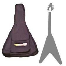 CHASE FLYING V PADDED SOFT GIG BAG ELECTRIC GUITAR PROTECTION CASE STRAP