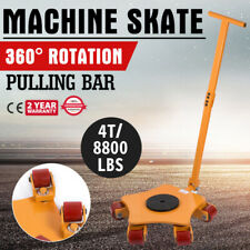 Machinery Skate Machinery Mover 4T/8800LBS Rotating Rollers Pulling Bar