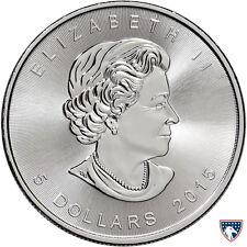 2015 1 oz Canadian Silver Maple Coin (BU) - SKU 0142