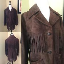 b68ad6c6065 New ListingVintage SEARS Brown Suede Fringe Jacket Coat Festival Hippy  1970 s Ladies M 12