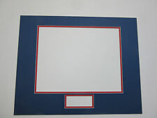 """Photo Mat 16x20 for 8x10 photo and signature 1.5""""x4"""" blue & red horizontal"""