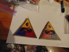 MILITARY PATCH SEW ON US ARMY 6TH ARMORED DIVISION COLORED OLDER WW2 ERA