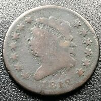 1812 Large Cent Classic Head One Cent 1c Circulated Rare #17709