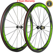 700C Full Carbon Fiber Wheels 50mm 23mm Wide Clincher Bicycle Wheelset 3K Basalt