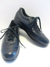 SAS Free Time Womens Size 9N Leather Navy Blue Lace Up Walking Comfort Shoes