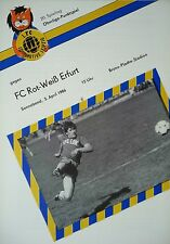 Programm 1985/86 1. FC Lok Leipzig - RW Erfurt
