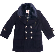 Fall and Winter Clothes Wool Coat Long Sleeve Woolen Jacket Twill Navy